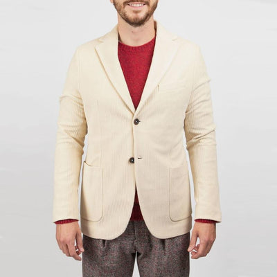 Cord Patch Pocket Jersey Blazer - Gotstyle The Menswear Store