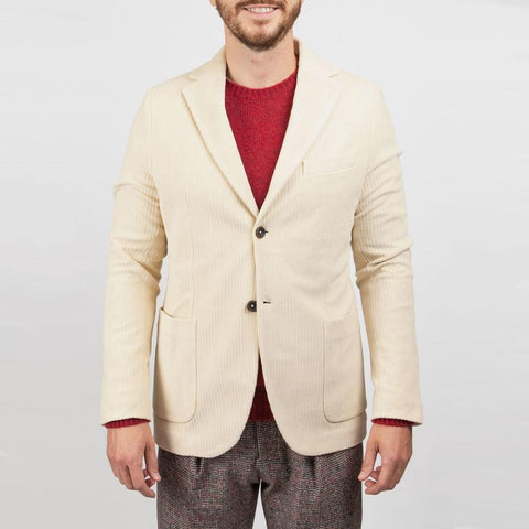Cord Patch Pocket Jersey Blazer