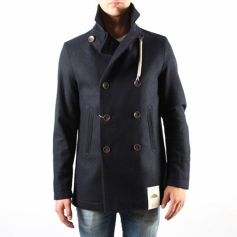 Camplin MS - Outerwear - Winter Island Peacoat Rain Resistant Wool - Navy - Gotstyle The Menswear Store