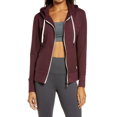 Halo Performance Zip-up Hoodie - Burgundy - Gotstyle The Menswear Store