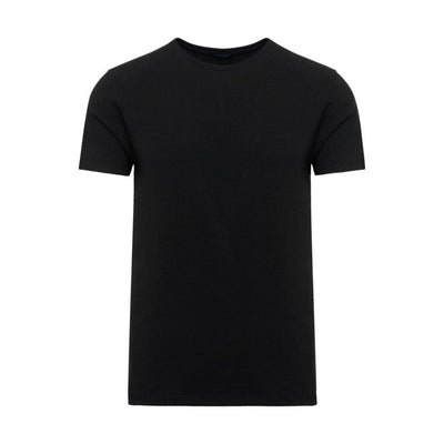 Patrick Assaraf T-Shirts Pima Cotton Stretch Crew Neck Tee Black - Gotstyle The Menswear Store
