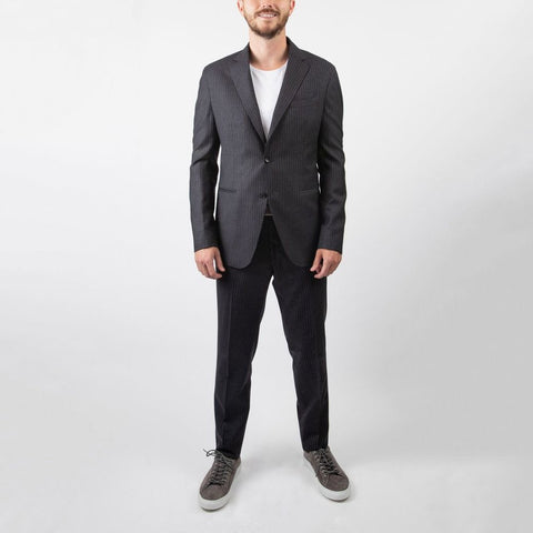Pinstripe Soft Touch Wool Suit - Gotstyle The Menswear Store