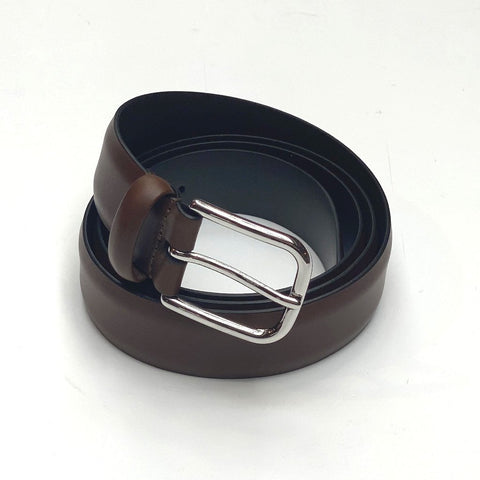 Solid Leather Dress Belt - Brown - Gotstyle The Menswear Store