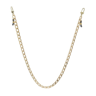 Ava + Kris Mask Shari Face Mask Chain - Gold - Gotstyle The Menswear Store