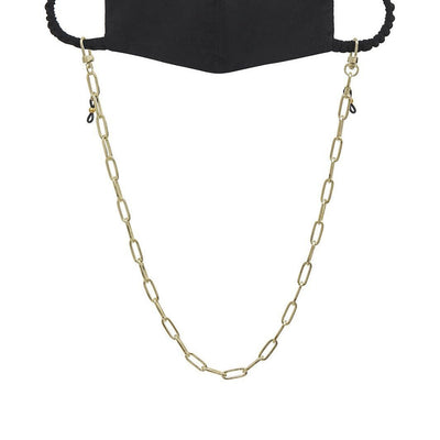 Ava + Kris Mask Paige Face Mask Chain - Yellow Gold - Gotstyle The Menswear Store