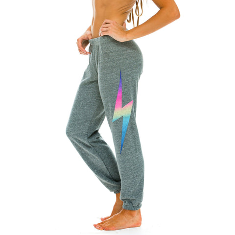 Aviator Nation Bottoms Women's Rainbow Bolt Sweatpants - Gotstyle The Menswear Store