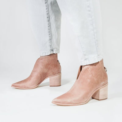 Gotstyle - KAANAS Shoes Bellone Pointed Toe Leather Ankle Booties