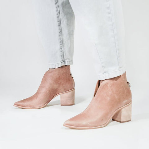 Bellone Pointed Toe Leather Ankle Booties - Gotstyle The Menswear Store