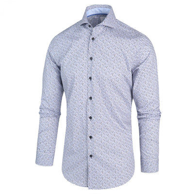 Blue Industry Collar Shirts Micro Dots Spread Collar Shirt - Gotstyle The Menswear Store