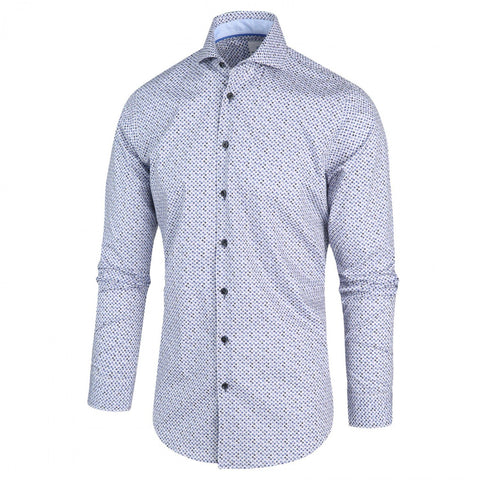 Blue Industry MT - Dress Shirts Micro Dots Spread Collar Shirt - Gotstyle The Menswear Store