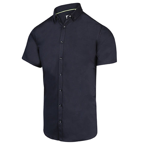 Solid Jersey SS Stretch Shirt - Navy - Gotstyle The Menswear Store