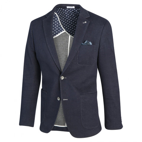 Denim Patch Pocket Stretch Blazer - Gotstyle The Menswear Store