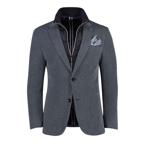 Blue Industry MS - Blazers Knit Patch Pocket Blazer with Removable Inlay - Navy - Gotstyle The Menswear Store
