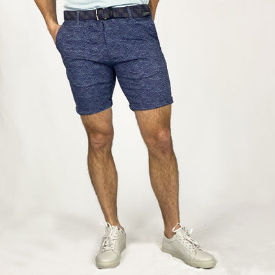 Gotstyle - Benson Shorts All-Over Wave Print Chino Short