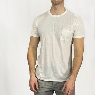 Gotstyle - Benson T-Shirts Cotton / Hemp Pocket Crew Tee - White