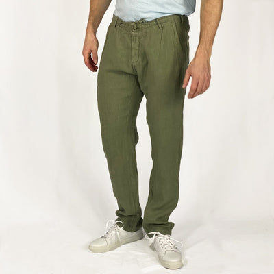 Gotstyle - Benson Pants Solid Linen Drawstring Pant