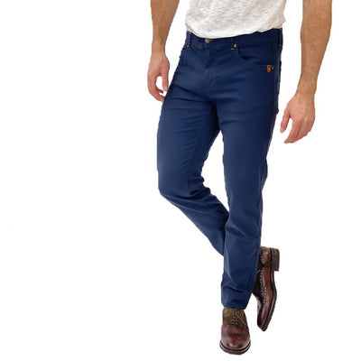 Gotstyle - Sand Copenhagen Pants Soft Stretch 5-Pocket Slim Fit Jeans - Blue