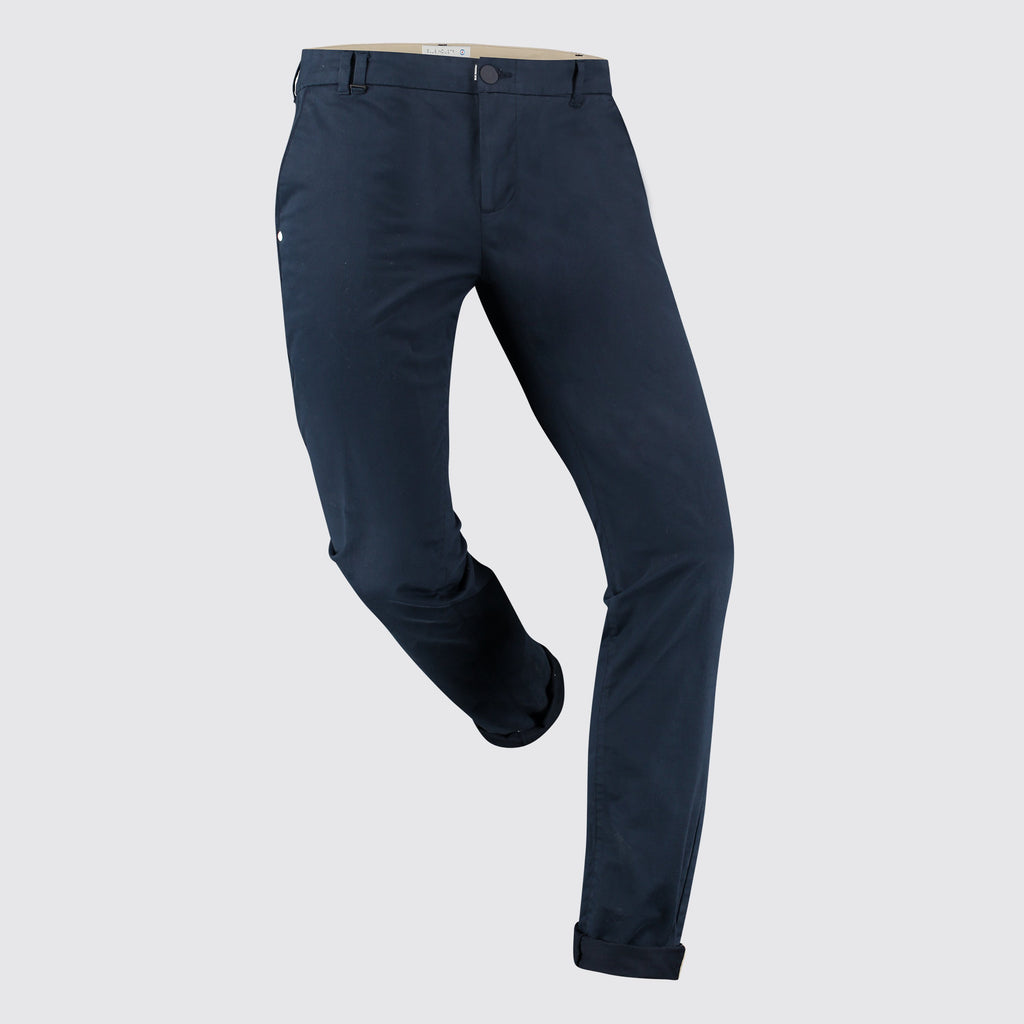 Blue Industry MS - Bottoms - Chinos Blue Cotton Stretch Chino - Gotstyle The Menswear Store