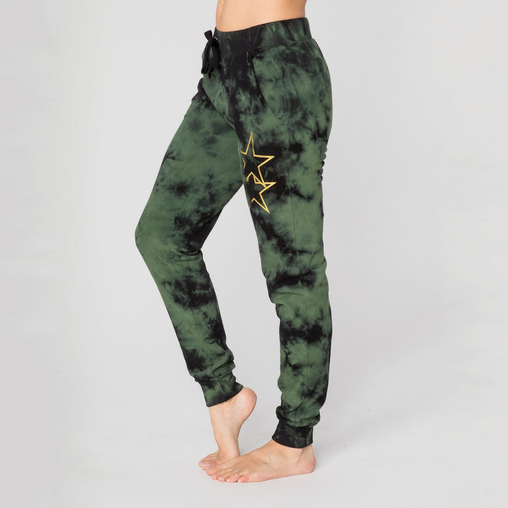 CHRLDR Bottoms Asymmetrical Stars Flat Pocket Sweatpants - Gotstyle The Menswear Store