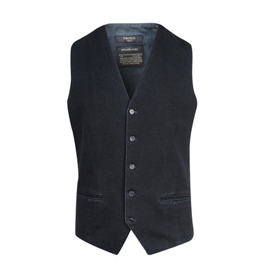 Circolo 1901 Vests Stone Washed Jersey Fleece Vest - Gotstyle The Menswear Store