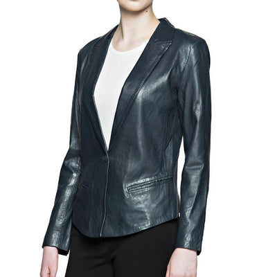 Bano eeMee Blazers Cybil Leather Blazer - Grey - Gotstyle The Menswear Store