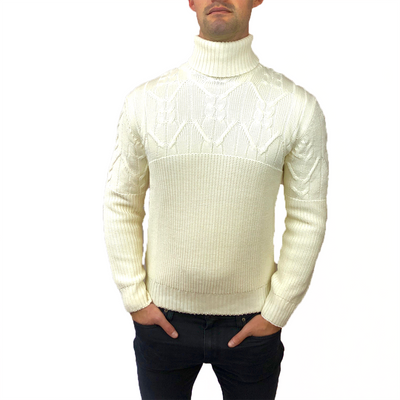 Gotstyle - Horst Sweaters Cable Knit Turtleneck Italian Sweater