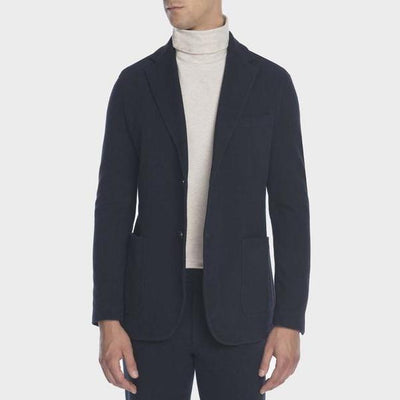 Circolo 1901 Blazers Patch Pocket Cotton Touch Jacket Navy - Gotstyle The Menswear Store