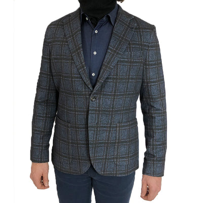 Circolo 1901 Blazers Checks Stretch Cotton Patch Pocket Blazer - Gotstyle The Menswear Store