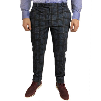 Circolo 1901 Pants Checks Stretch Cotton Dress Pant - Gotstyle The Menswear Store