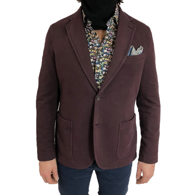 Gotstyle - Circolo 1901 Blazers Stretch Soft Cotton Patch Pocket Blazer - Burgundy