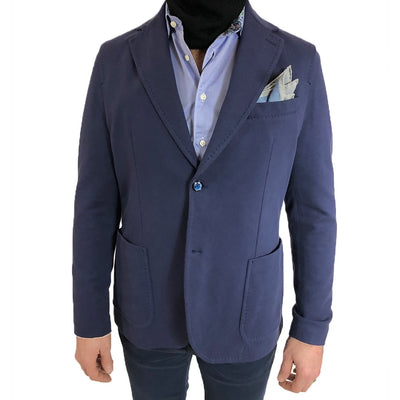 Gotstyle - Circolo 1901 Blazers Stretch Soft Cotton Patch Pocket Blazer - Blue