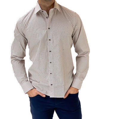 Gotstyle - Sand Copenhagen Collar Shirts Small Dots Light Cotton Shirt