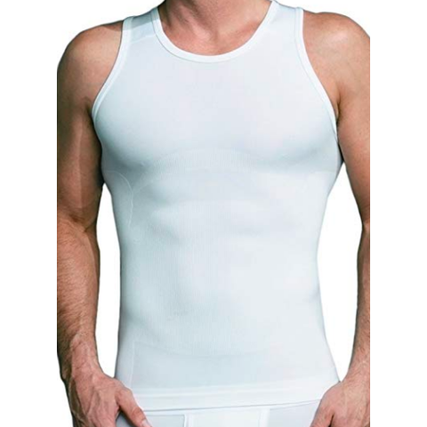 Equmen MS - Casual Tops - Tshirts White Core Precision Posture Enhanced Singlet Tank - Gotstyle The Menswear Store