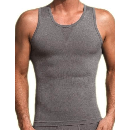 Equmen MS - Casual Tops - Tshirts Grey Core Precision Posture Enhanced Singlet Tank - Extra Compression - Gotstyle The Menswear Store