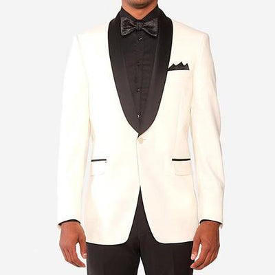 Gotstyle Blazers Black Satin Shawl Collar Dinner Jacket - Gotstyle The Menswear Store