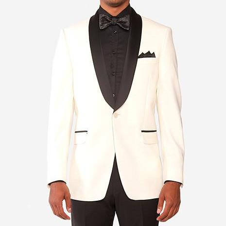 Black Satin Shawl Collar Dinner Jacket