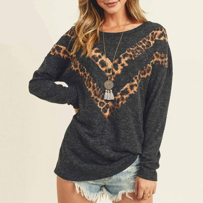 Gotstyle - First Love Sweaters Animal Print Chevron Round Neck Pullover
