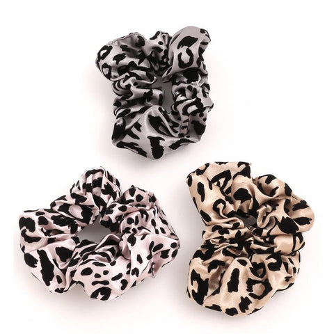 Fame Accessories Gifts Leopard Print Hair Scrunchie Set - 3 Pack - Gotstyle The Menswear Store