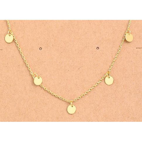 Multi Mini Coin Charm Necklace - Gold - Gotstyle The Menswear Store