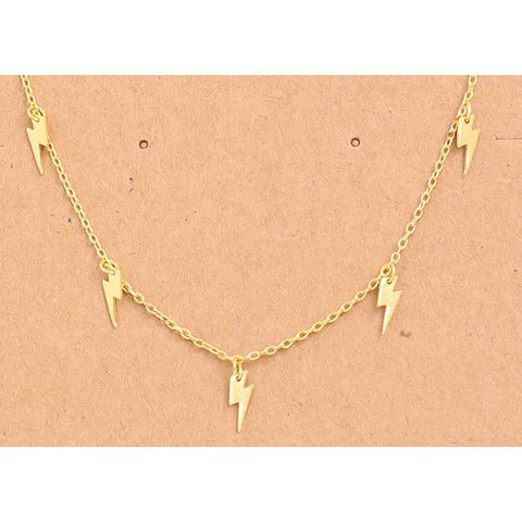 Lightning Charms Necklace - Gold - Gotstyle The Menswear Store