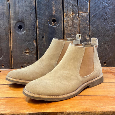 Blend Shoes Suede Chelsea Boot - Tan - Gotstyle The Menswear Store