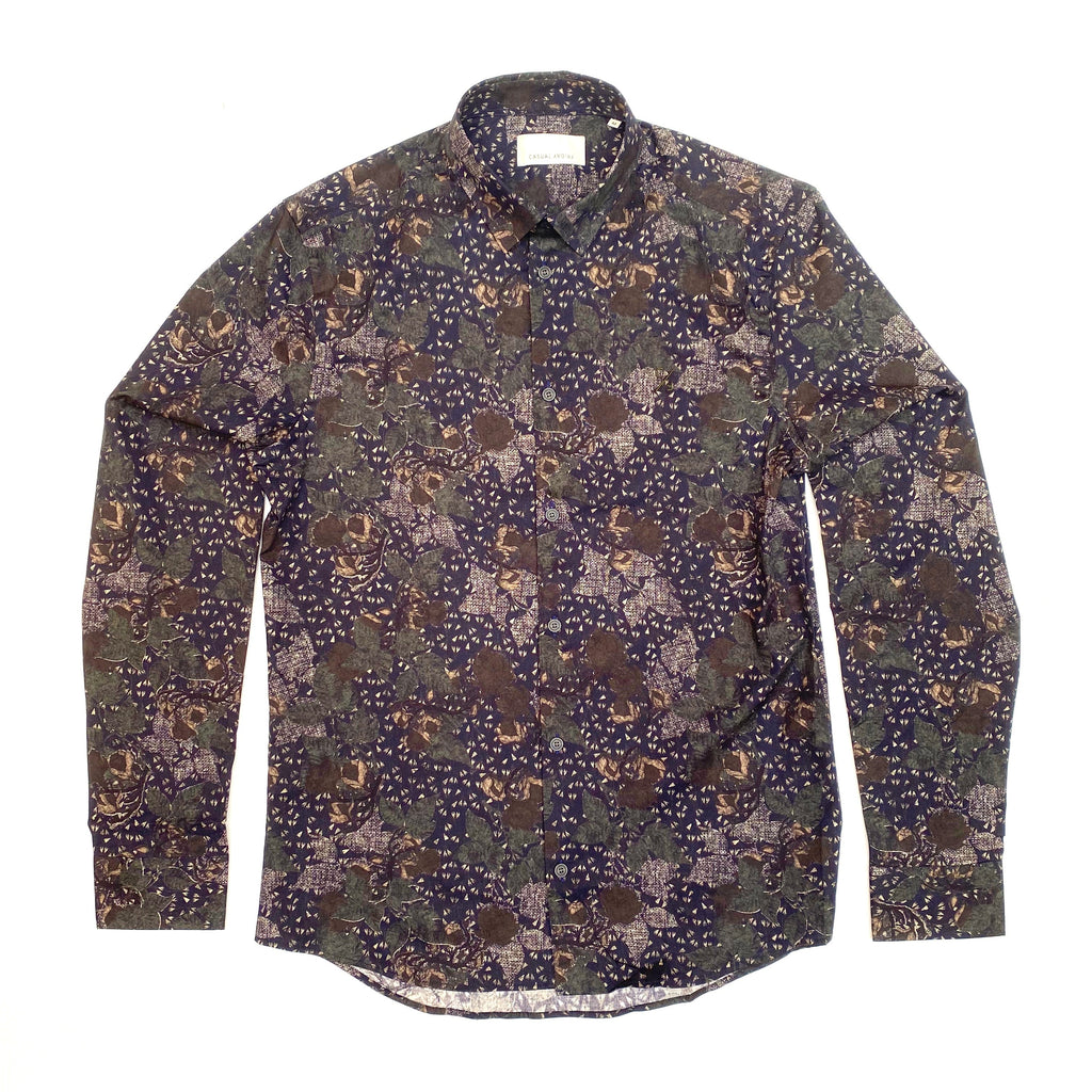 Casual Friday MT - Dress Shirts - Fashion Arthur Abstract Floral Print LS Shirt - Gotstyle The Menswear Store