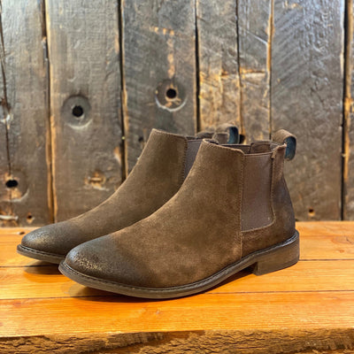 Blend Shoes Suede Chelsea Boot w Distressing - Brown - Gotstyle The Menswear Store