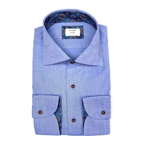 Exan Cotton Oxford Shirt w Contrasts - Gotstyle The Menswear Store
