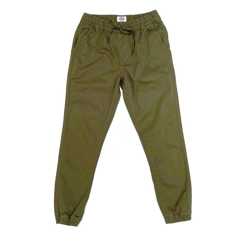 Hedge MS - Bottoms - Joggers Solid Stretch Cotton Jogger - Gotstyle The Menswear Store