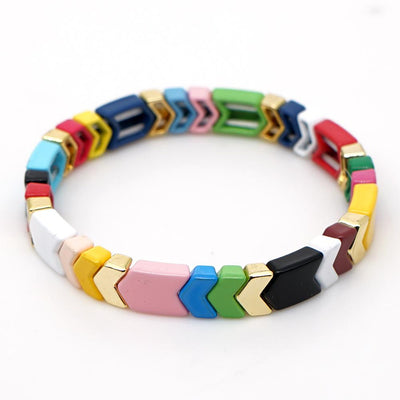 Gotstyle - Gotstyle Jewellery Arrow Tiles Bracelet - Multi