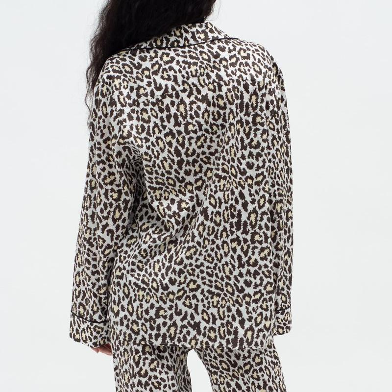 les girls les boys Tops Leopard Classic Cotton Pyjama Top - Gotstyle The Menswear Store