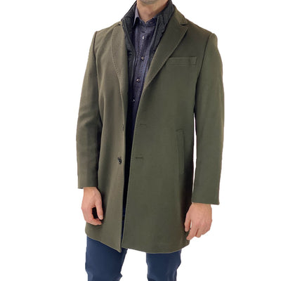 Gotstyle - Sand Copenhagen Coats Wool/Cashmere Topcoat with Removable Inlay - Dark Green