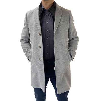 Gotstyle - Sand Copenhagen Coats Wool/Cashmere Topcoat with Removable Inlay - Light Grey
