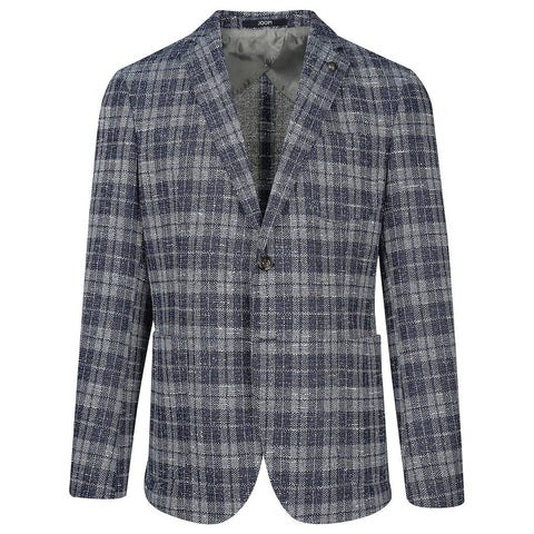 Plaid Check Patch Pocket Boucle Blazer - Gotstyle The Menswear Store